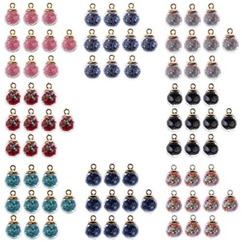 joyMerit 80x16mm Estrellas Bola de Cristal Encantos Colgante Collar en Forma Joyería para El Cabello Artesanía DIY