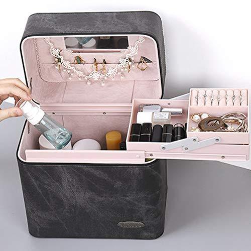 Rangement Cosmétique Beauty Case,Trousse De Toilette Grande Sac,Pochette de rangement Valise,Coffret Mallette de Maquillage,Coffret beauté professionnel,Multifonctionnel,Stockage,Organiser,Pliable,