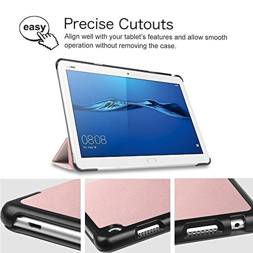 Fintie Huawei Mediapad M3 Lite 10 Hülle - Ultra Dünn Superleicht SlimShell Case Cover Schutzhülle Etui Tasche mit Zwei Einstellbarem Standfunktion für Huawei Mediapad M3 Lite 10 Zoll, Roségold - 6
