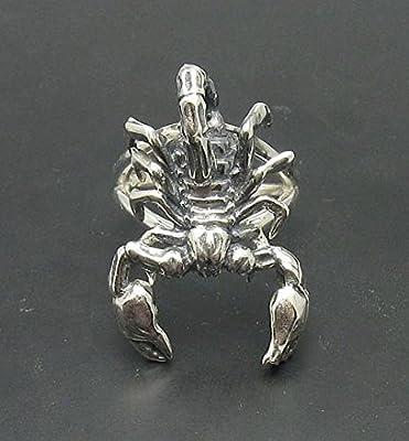 Bague en argent massif Scorpion 925 taille ajustable R000867 Empress