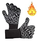 BBQ Gloves Extreme Heat Resistant Grill Gloves - Premium Insulated Durable Fireproof Kitchen Mitts...