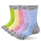 YUEDGE Women's Moisture Wicking Cotton Cushion Crew Socks Sports...
