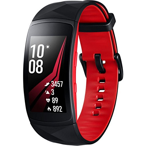 Samsung Gear Fit2 Pro Smartwatch Schwarz, Rot SAMOLED 3,81 cm (1.5 Zoll) GPS - Smartwatches (3,81 cm (1.5 Zoll), SAMOLED, Touchscreen, GPS, 33 g, Schwarz, Rot)