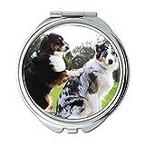Yanteng Spiegel, Travel Mirror, Massage Hunde Freunde Bestfriends Pet Behandlung, Taschenspiegel, Tragbare Spiegel