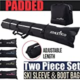 Athletico Padded Ski Bag Combo - Ski Bag & Separate Ski Boot Bag - Store &...
