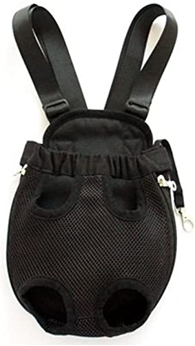 Mallofusa X-Large Extra Large Size Black Color Pet Legs Out Front Carrier Dog Backpack Bag for Dog Cat
