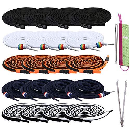 Lot de 20 cordons de serrage de rechange avec enfile-cordon flexible pour pantalon de survêtement - Cordon universel pour vestes, maillots de bain, lacets de chaussures, sacs fourre-tout