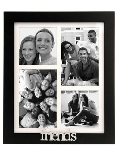 Malden Friends 4 Opening Picture Frame Collage Black W