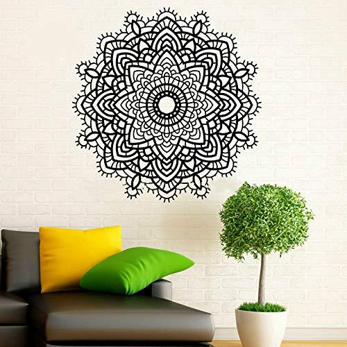 BFMBCH Diseño de moda Mandala Etiqueta de la pared Yoga Adhesivo autoadhesivo Vinilo Decoración para el hogar Etiqueta Hogar y sala de estar Restaurante Luz de pared verde 59cm X 59cm S