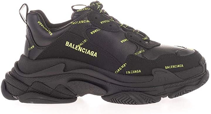 Scarpe balenciaga uomo luxury fashion 536737w2fa11070 nero poliestere sneakers | B08CS1FDJX
