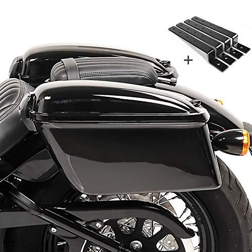 Seitenkoffer Oregon mit Haltesatz für Harley Sportster 1200 Nightster