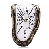 Lafocuse Reloj Repisa Fusión Creativo Vintage Reloj Cuarzo Números Arábigos para de Escritorio de Estante 18 * 13 * 15 cm
