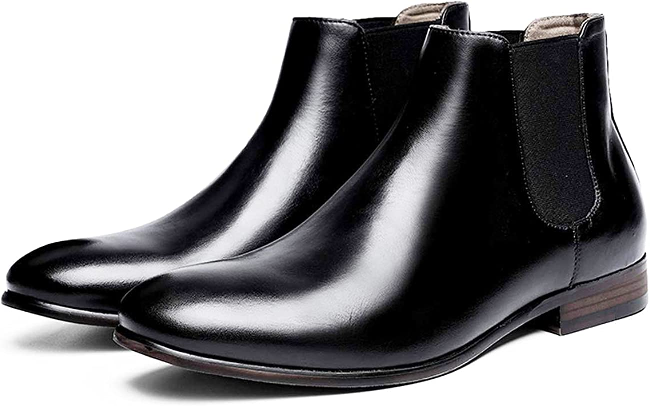 R.PRINCE Mens Chelsea Boots Genuine for Outlet ☆ Free Shipping Dress High quality Men Leather