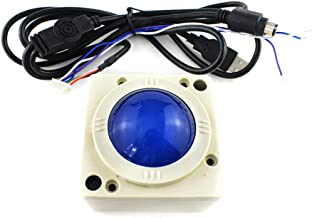 2 Inch Arcade Game Trackball Controller LED Round Illuminated Yellow Blue USB PS3 Connector Machine Cabinet Console Accessories Durable New