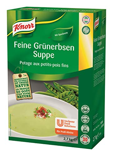 Knorr feine Grünerbsen Suppe Trockenmischung (typischer Erbsen Geschmack mit leichter Specknote) 1er Pack (1 x 2,7kg)