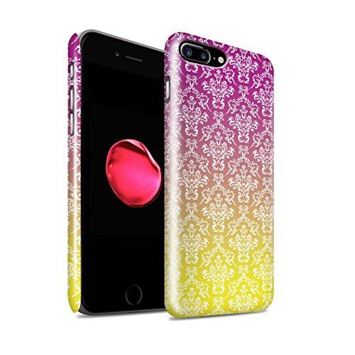 Stuff4 Lucidare Duro Snap On Custodia/Cover/Caso/Cassa del Telefono per Apple iPhone 7 Plus/Damasco/Ombre di Moda Disegno