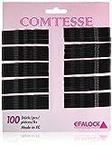 Efalock Comtesse Lot de 100 pinces à cheveux plates/ondulées Noir 7 cm