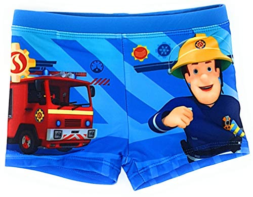 Feuerwehrmann Sam Badehose Beadeshorts (Hellblau, Größe 110)