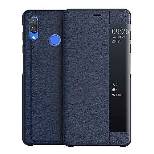 UBERANT Capa para Huawei Nova 3, capa protetora ultrafina de policarbonato rígido com função de suporte à prova de choque translúcido para Huawei Nova 3 6,3 polegadas - azul escuro