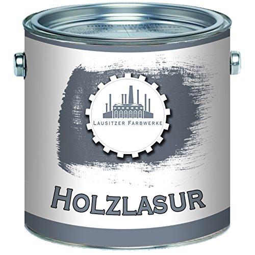 Lausitzer Farbwerke Holzlasur traditionelles Terrassenöl HolzschutzlasurHolzschutzanstrichSpezial-Lasur (1 L, Ebenholz)