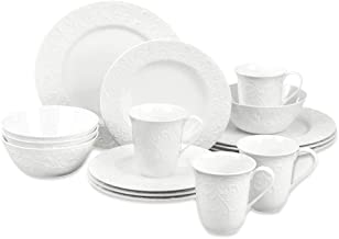 Lenox Opal Innocence Carved 16-Piece Dinnerware Set, 21.55 LB, White