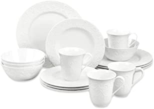 LENOX Opal Innocence Carved Dinnerware, 21.55 LB, 16-Piece Place Setting