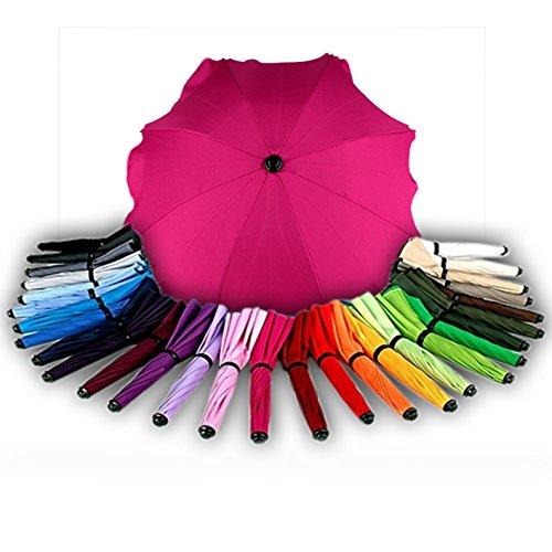 BAMBINIWELT Sonnenschirm für Kinderwagen Ø68cm UV-Schutz50+ Schirm Sonnensegel Sonnenschutz (Pink)