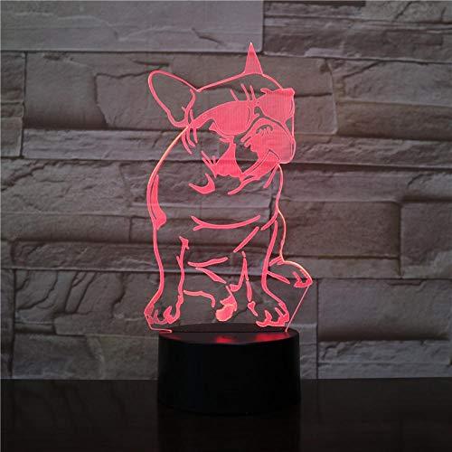Decoración navideña bonita cabeza de gato con luz 3D RGB LED bombilla USB de estado de ánimo luz nocturna ilusión gadget Prop Luminaria cambio escritorio mesa dormitorio decoración DUYAO00
