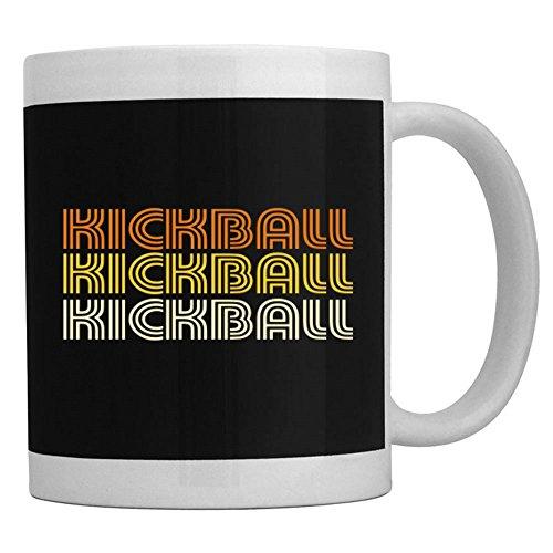 Teeburon Kickball Retro Color Tasse