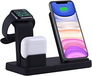 Wireless Charger, LIONAL 3 in 1 Charging Station, Charging Dock for AirPods and AirPods Pro, Watch Stand for Apple Watch, ...