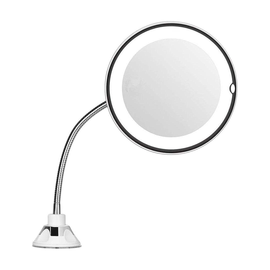 博物館モトリーブレンドIntercorey Mirror倍率7インチグースネックメイクアップラウンドバニティミラー家庭用浴室使用超強力吸盤
