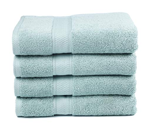 Premium Bamboo Cotton Bath Towels - Natural, Ultra Absorbent and Eco-Friendly 30 X 52 (Duck Egg)