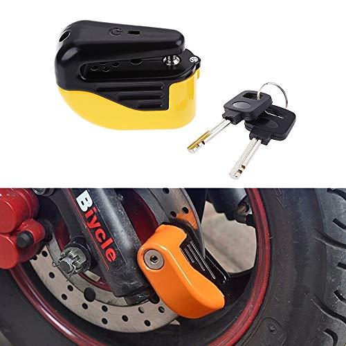 NO BRAND Fietszadel, fiets, onderdelen, TR usableness vergrendeling, klein, remschijfblokkering voor alarm, diefstalbeveiliging (oranje)