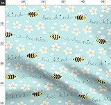 Biene, Nett, Bienen Stoffe - Individuell Bedruckt von