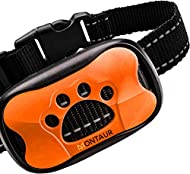 MONTAUR Rechargeable No Bark Collar for Small, Medium, Large Dogs Upgrade Stop Barking Collar for Do...