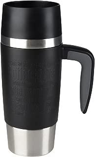 Emsa Travel Mug Vacuum Jug 0.36 L Handle Black, Coffee, Tea Jug, Thermos Flask, 514096