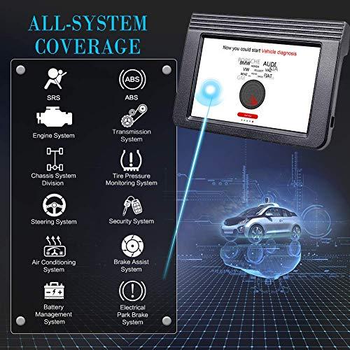Valise Diagnostic OBD2 Compatible avec WiFi Bluetooth Dbscar 5, Android Scanner Écran 10,1 Pouces et Batterie 7000 mAh + 2 an de mises à Jour gratuites en français