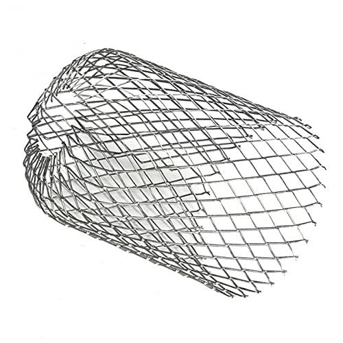 GoodLuck 4 unids/Caja Filtros de protección de Canal de Techo Expandir Filtro de Aluminio Colador Tubo de Bajada Parada Drenajes de Hoja de Bloqueo Cubierta de Red de Drenaje de escombros