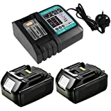 Replace Charger with 2 X BL1830 3Ah Li-ion Batteries for MAK 18Volt...