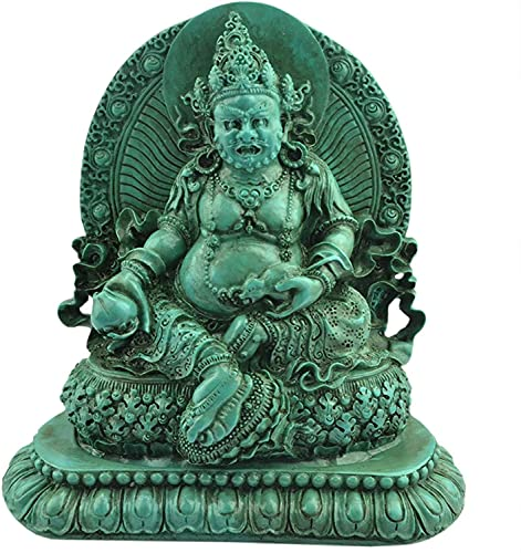 YANRUI Estatua de Buda de la Fortuna Decoración Artificial Turquesa Hindú Dios Estatua Diwali Escultura Hogar Sala Oficina Decoración Artesanía