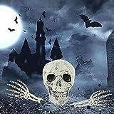 Halloween Deko Skelett Schädel Realistisch Grausigkeit Begraben Lebend Skelett Schädel Garten Hof Rasen Dekos für Halloween Garten Hof Rasen Dekoration - 4