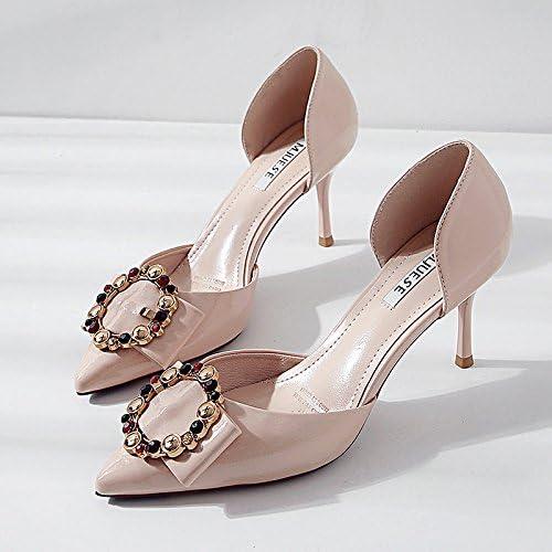 Xue Qiqi hohlen bemalte Leder Sandalen Frauen High Heels Tipp Tipp Tipp fein mit 7 cm Wasser bohren runde Klammer Licht - einzelne Schuhe  billig