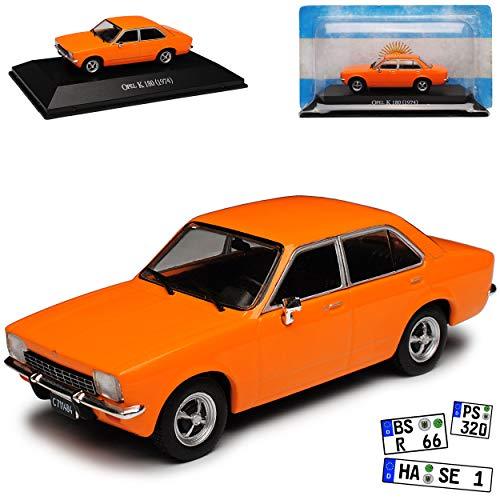 DeAgostini Opel Kadett C K 180 Limousine Orange 1973-1979 mit Sockel 1/43 Modell Auto