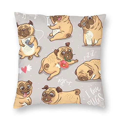 Moily Fayshow Square Throw Pillow Case Decorative Cushion Cover Pillowcase Queen,Funny Shar Pei,40 X 40 Cm