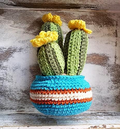 Brand new Cactus Trio in Selling Southwestern Pot Southwest P Home Decor Crochet
