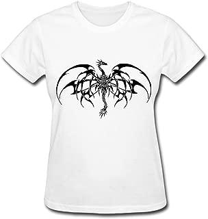 HD-Print Women's Tshirts Fantasy Dragon Tattoo White