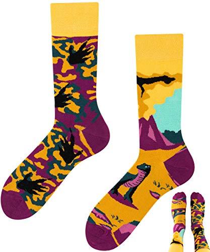 TODO Colours Komodo-Waran Dinosaurier Drachen Socken Herren und Damen (Komodo-Waran, 43-46)