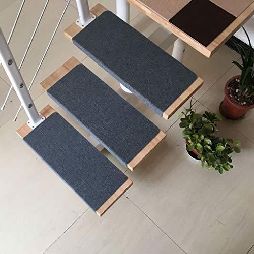 Carpet Stair Zelfklevende trapmatten, 15 stuks, meerkleurig tapijt, trapbekleding, 70 x 24 cm