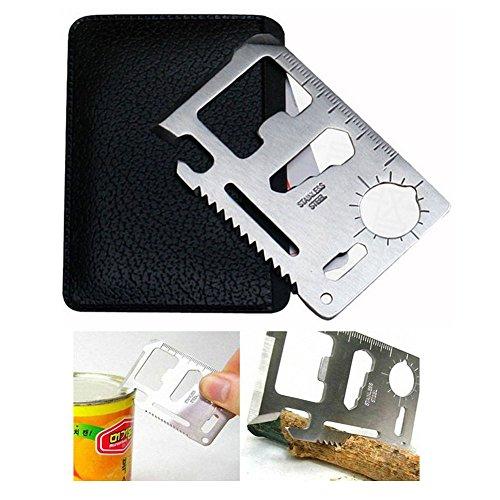 IHRKleid Outils extérieurs en acier inoxydable Card Versatile Multi-Outil
