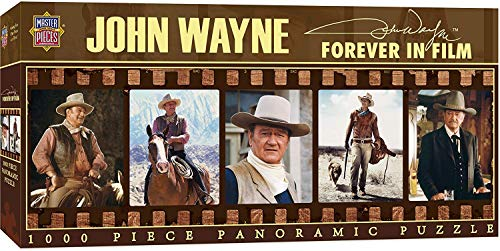 MasterPieces John Wayne Panoramic Jigsaw Puzzle, Forever in Film, Dr. Toy's 100 Best Winner, 1000 Pieces -  Masterpieces Puzzle Co., MP71446